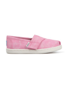 Toms Girls Pink Tie Dye Classic Canvas