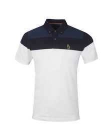 Luke Mens White Mikey Freedoms S/S Polo