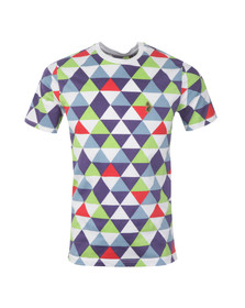Luke Mens Multicoloured S/S Geotriangles T-Shirt