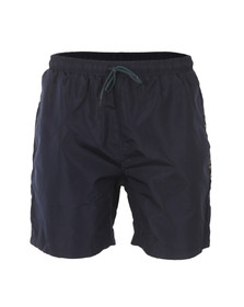 Luke Mens Blue Barnesy Thigh Length Swimshort