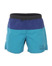 EA7 Emporio Armani Mens Blue Sea World 2 Colour Swim Shorts