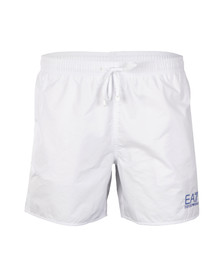 EA7 Emporio Armani Mens White Sea World Swim Shorts