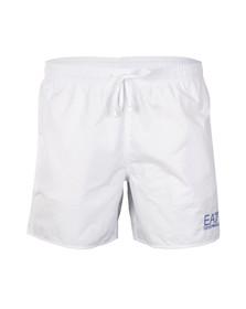 EA7 Emporio Armani Mens White Sea World Swim Shorts