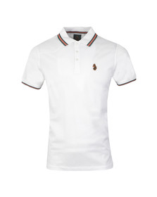 Luke Mens White Minter Stripe Polo