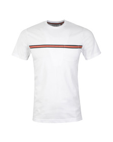 Luke Mens White Taper Sport Printed Crew T-Shirt