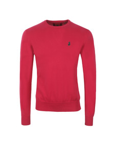 Luke Mens Pink Gerard Crew Neck Jumper