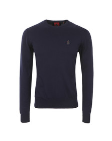 Luke Mens Blue Gerard Crew Neck Jumper