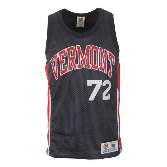 Franklin & Marshall Mens Blue Vermont Basketball Vest main image