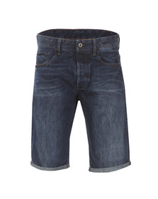 G-Star Mens Blue 3301 Tapered Denim Shorts