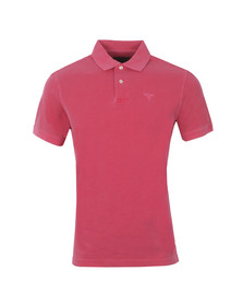 Barbour Lifestyle Mens Pink S/S Washed Sports Polo