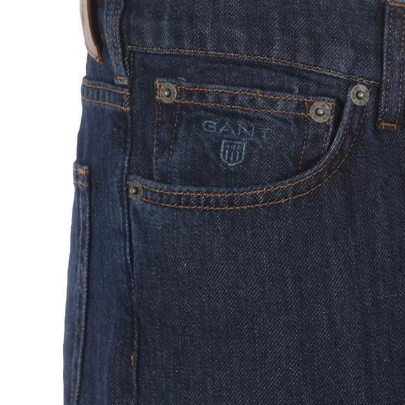 Gant Mens Blue Linen Jean main image