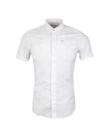 Diesel Mens White Haul Plain Short  Sleeve Shirt