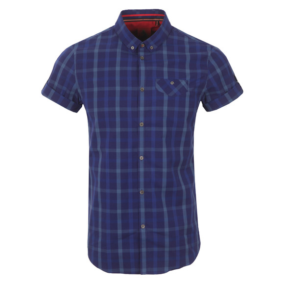 Luke Mens Blue KP Fozzy Button Down Collar Shirt main image