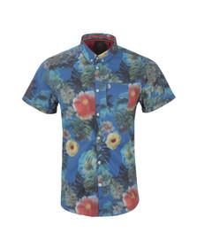 Luke Mens Purple Suchart SS Printed Shirt