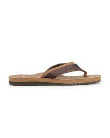 Toms Mens Brown Verano Flip Flop