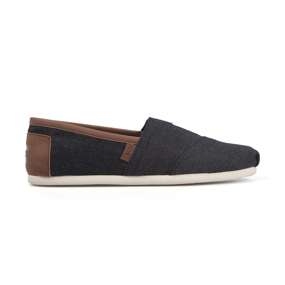 Toms Mens Blue Synthetic Leather Trim Espadrille