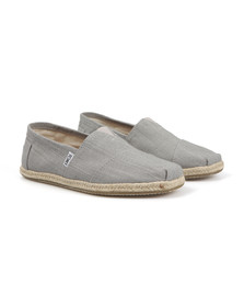 Toms Mens Grey Linen Classic Slip On