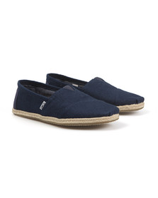 Toms Mens Blue Linen Classic Slip On