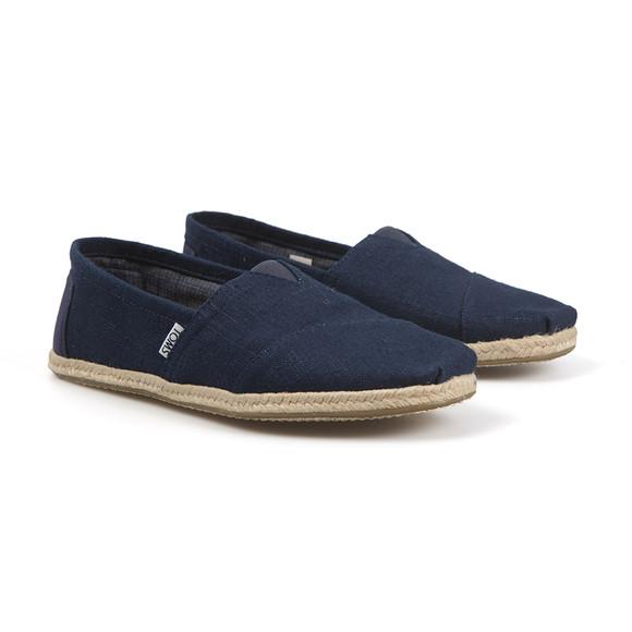Toms Mens Blue Linen Classic Slip On main image