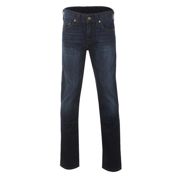 True Religion Mens Blue Geno No Flap Jean