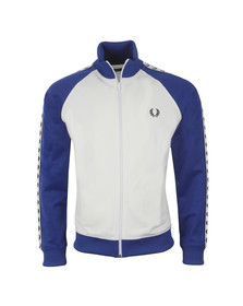 Fred Perry Sportswear Mens White Colour Block Tape Track Top