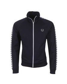 Fred Perry Sportswear Mens Blue Laurel Wreath Tape Track Top