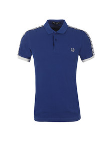 Fred Perry Sportswear Mens Blue Taped Pique Polo Shirt