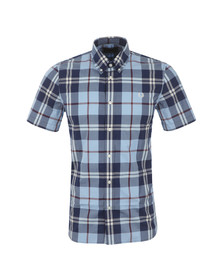 Fred Perry Mens Blue Bold Check Shirt