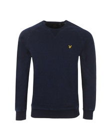 Lyle and Scott Mens Blue Crew Neck Sweat