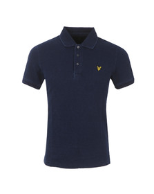 Lyle and Scott Mens Blue S/S Indigo Pique Polo