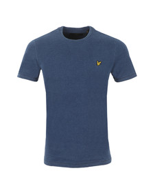 Lyle and Scott Mens Blue S/S Indigo Dyed T-Shirt
