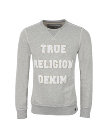 True Religion Mens Grey Crew Sweat TR Denim