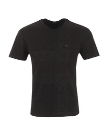 True Religion Mens Black Bandana Print T Shirt