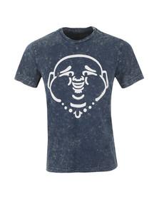 True Religion Mens Blue Buddha Acid T Shirt