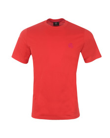 Paul Smith Mens Red Regular Small Logo T Shirt