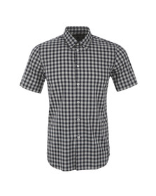 Paul Smith Mens Blue Tailored Fit Short Sleeve Check Shirt