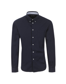 Paul Smith Mens Blue Casual Fit Plain Shirt