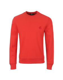 Paul Smith Mens Red Organic Cotton PS Logo Sweatshirt
