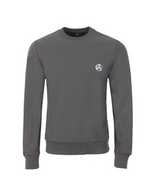 Paul Smith Mens Grey Organic Cotton PS Logo Sweatshirt