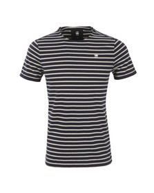 G-Star Mens Blue Prebase Stripe T Shirt