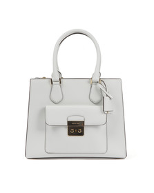 Michael Kors Womens White Bridgette Mid EW Tote Bag