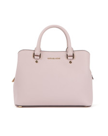 Michael Kors Womens Pink Savannah Mid Satchel
