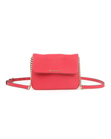 Michael Kors Womens Pink Bedford Flap Crossbody Bag