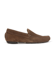 Barker Mens Brown Denby Suede Loafer
