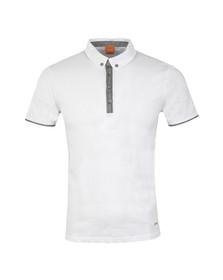 Boss Orange Mens White Playott Polo Shirt