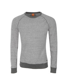 Boss Orange Mens Grey Willie Crew Neck Sweatshirt
