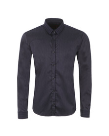 Hugo Mens Blue Ero3 Pinstripe Shirt