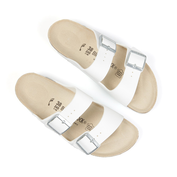 Birkenstock Womens White Arizona Sandal main image