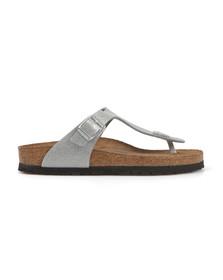 Birkenstock Womens Silver Gizeh Sandal