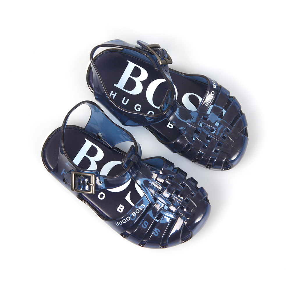 0f6e63ad306171 BOSS Loungewear Boys Blue Jelly Sandals main image . ...